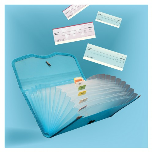 Expanding Cheque Case - Elastic - 12 section (EX701), Pack of 2