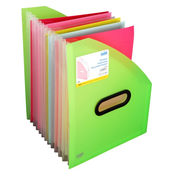 13 Compartments Polypropylene Plastic Desktop Expanding Document Holder , FS401