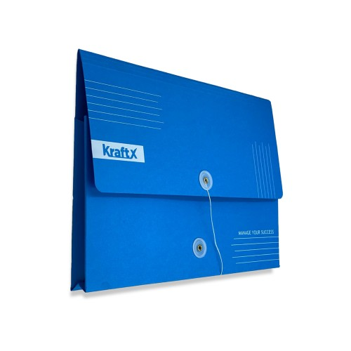 KraftX Document Bag - Paper,  String Closure - A4  (KB118), Pack of 5