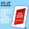 AD-UP Display Stand - Plastic, A4 (LSA41) Pack of 4