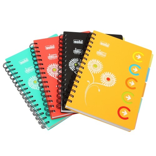 5-Subjects Notebook, Pack of 4 pcs, A5 (NA553)