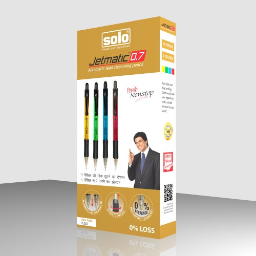 Jetmatic Pencil 0.7, Pack of 10 pcs.,  FLAT 20% OFF mini. 10 Qty (PP217)