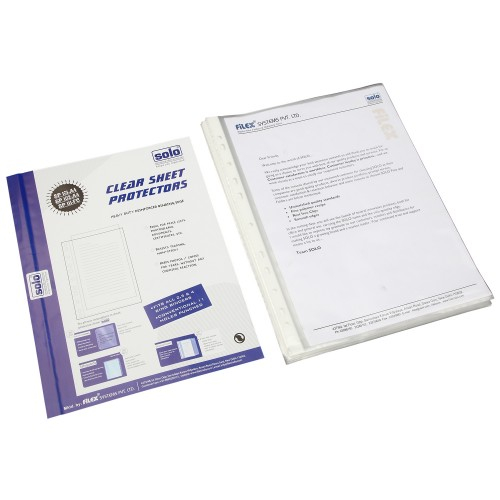 Sheet Protectors - SILVER 140 (70+70 Microns) - A4 (SP102), Pack of 50