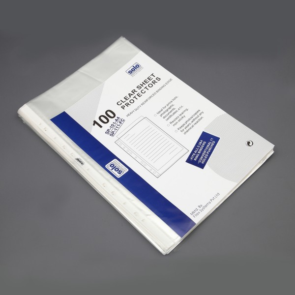 Sheet Protectors - STANDARD, 70 Microns, Packs of 100 pcs  (SP111)