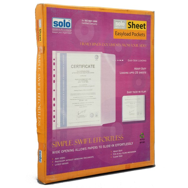 Sheet Protectors - Easyload (SP501) Packs of 100 pcs
